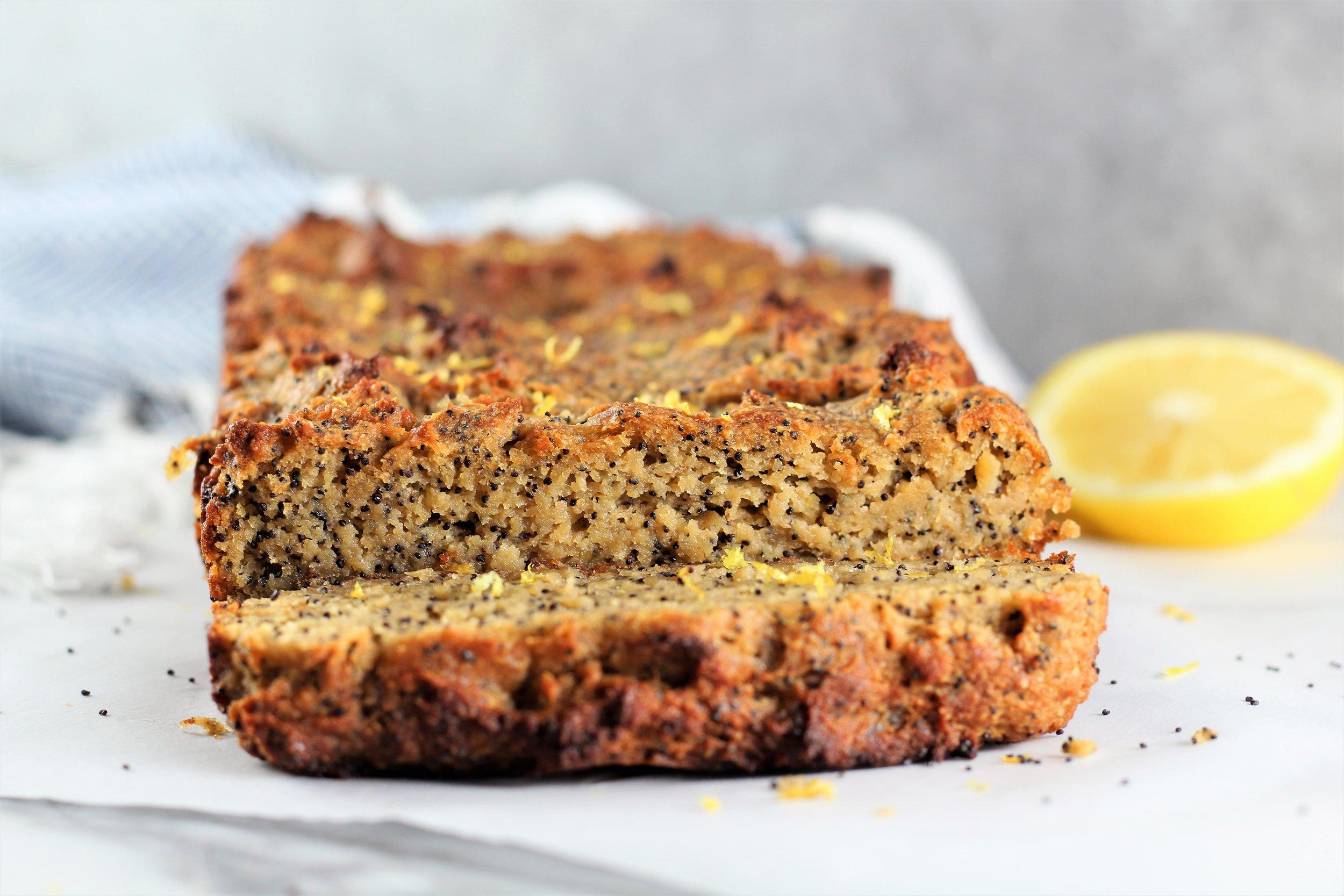 Paleo Lemon Poppyseed Bread
