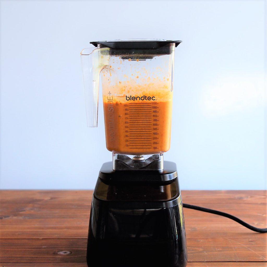 step 9 homemade smoothie in blender all blended