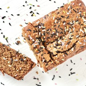 Almond Flour Banana Bread with sprinkles