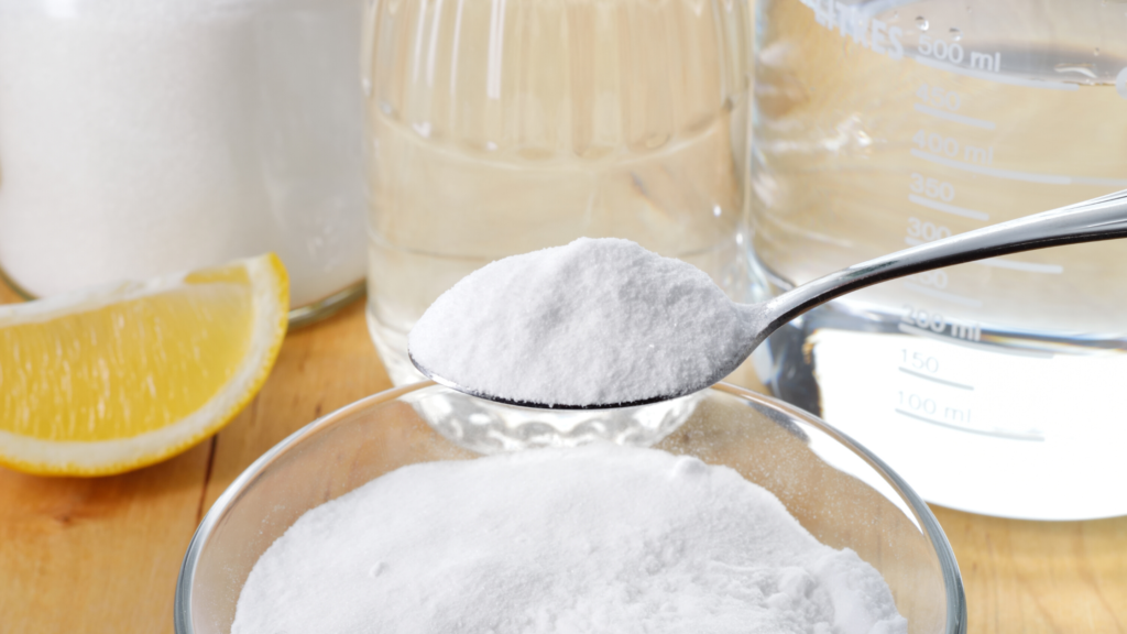 baking soda vinegar lemons cleaning