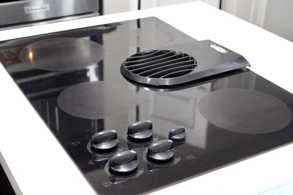 clean black electric stovetop