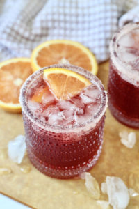 pomegranate martini with orange liqueur