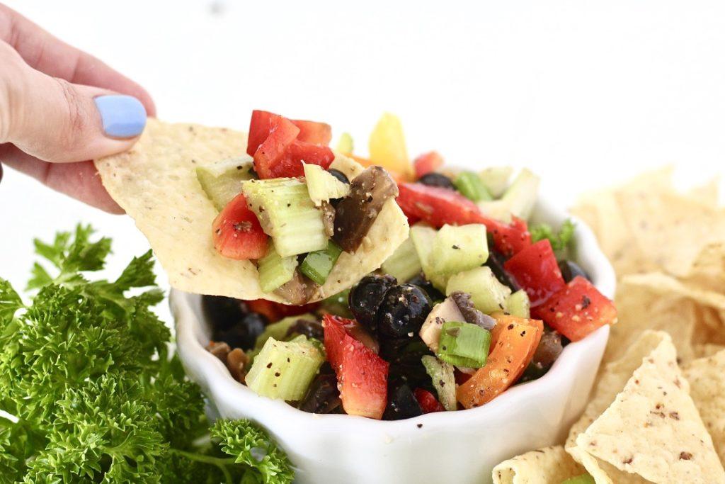 dairy free veggie dip in a bowl