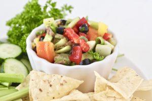 dairy free veggie dip in bowl