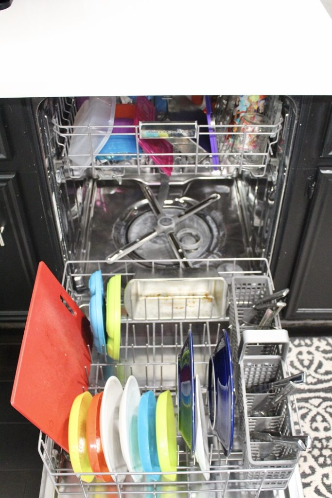 open dishwasher