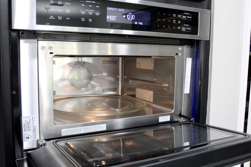 clean stainless steel microwave