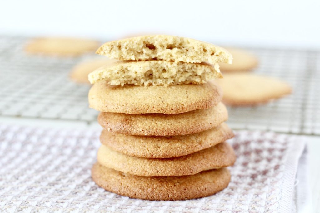 stack of sugar cookies