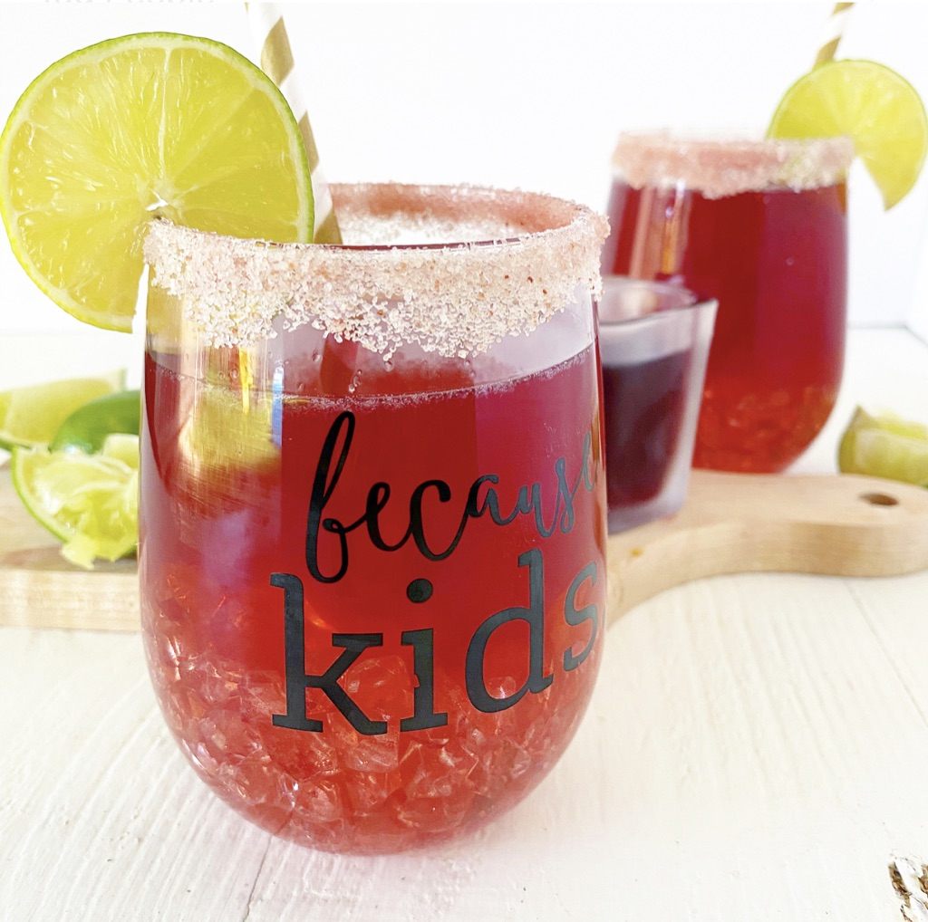 cocktail in because kids glass