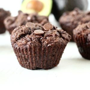 Gluten Free Chocolate Avocado Muffins