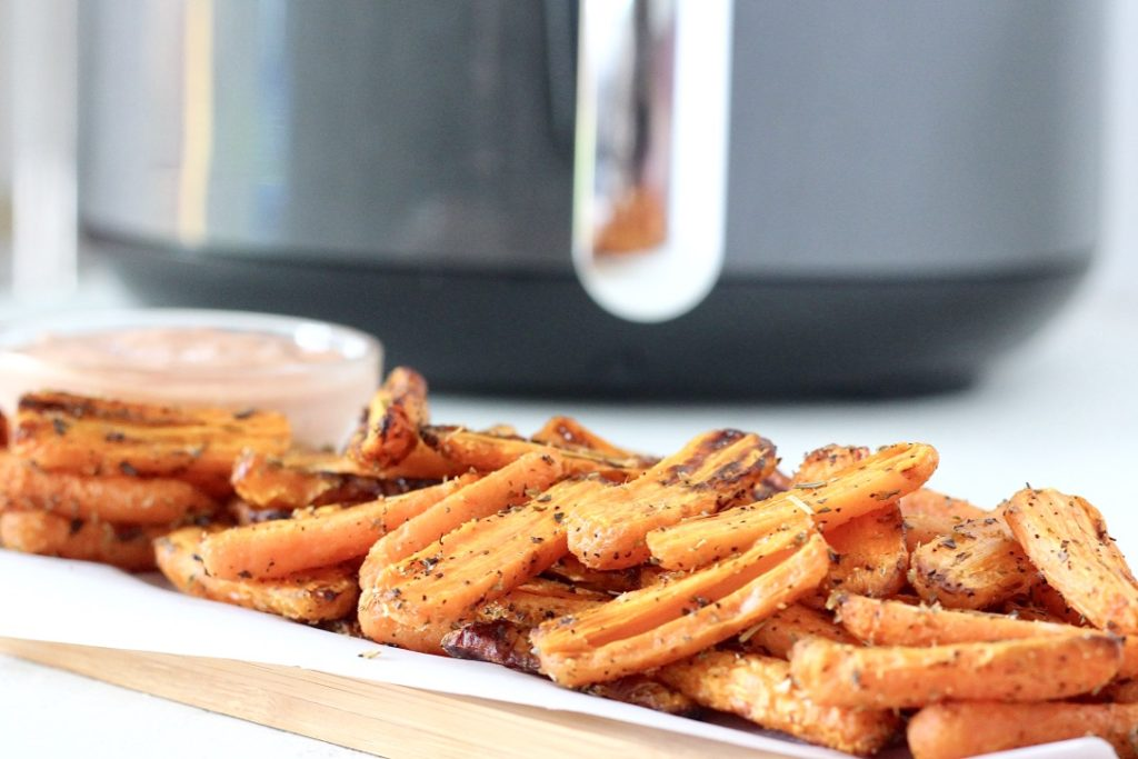 carrots cooked in air fryer
