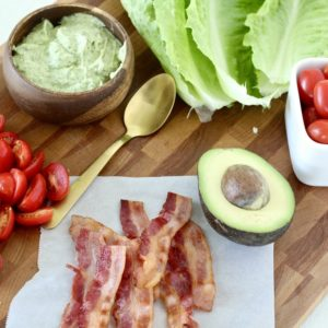 BLT Lettuce Wraps with Avocado Ranch Dressing