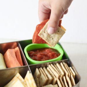 Healthy DIY Pizza Lunchables for back to school