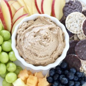 Low Sugar Peanut Butter Fruit Dip