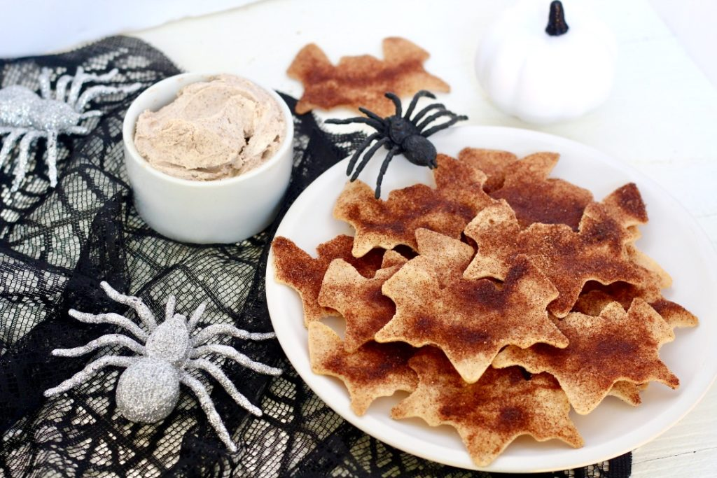 cinnamon sugar tortilla chips for halloween