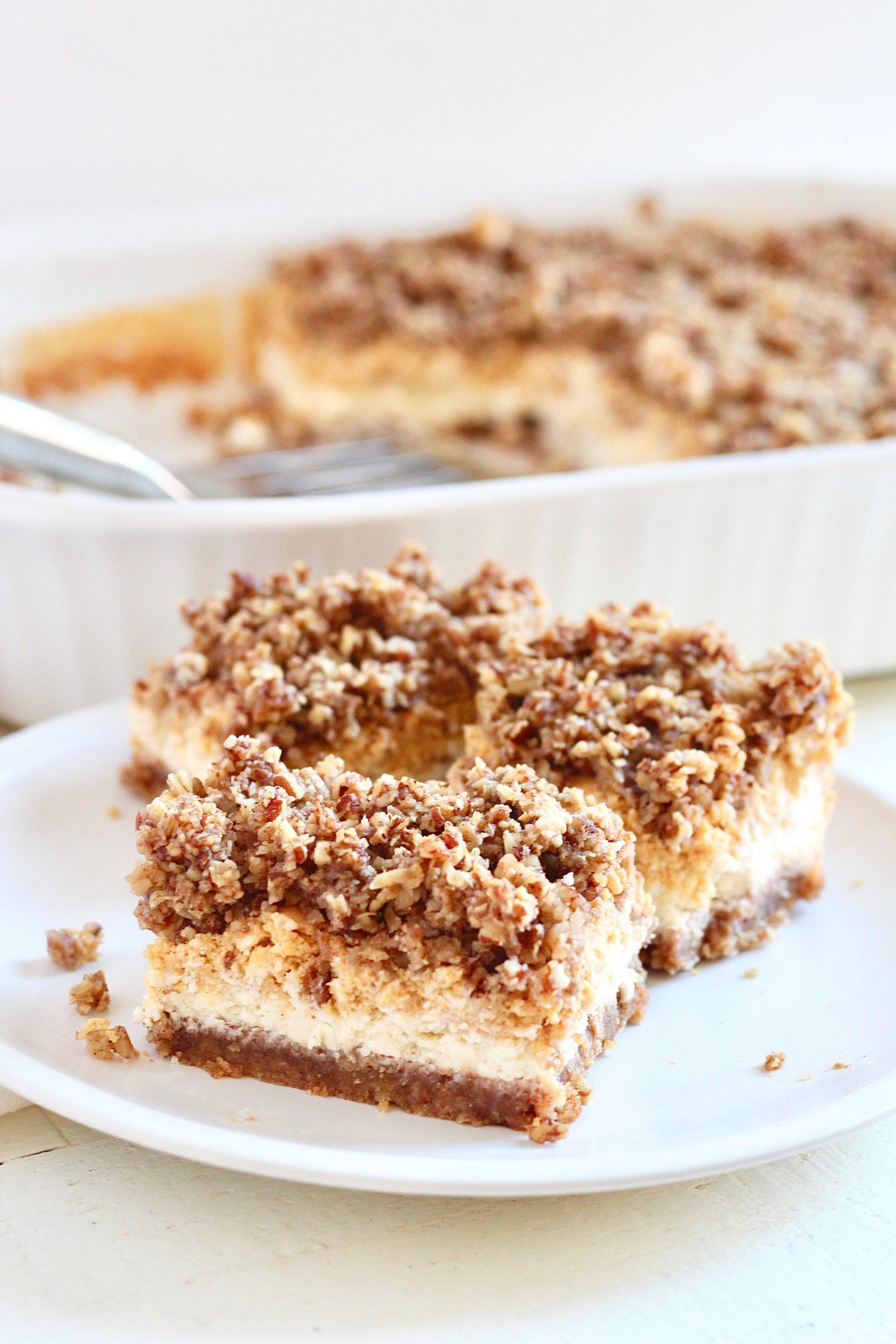 layered cheesecake bars gluten free
