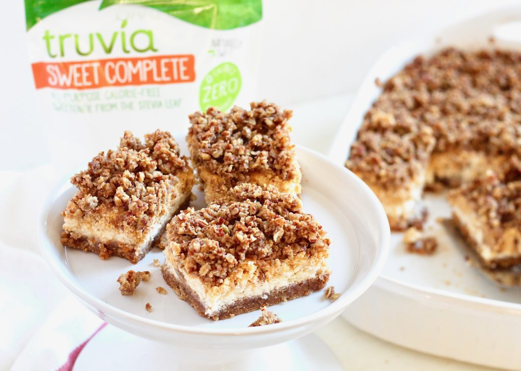 cheesecake bars made with trivia sweet complete