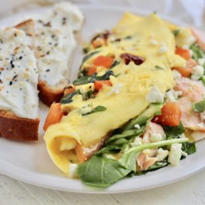 Colorful Mediterranean Omelette with Feta