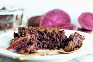purple sweet potato and Beet Souffle