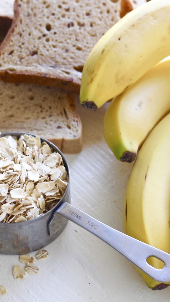examples of carbs oats bananas bread