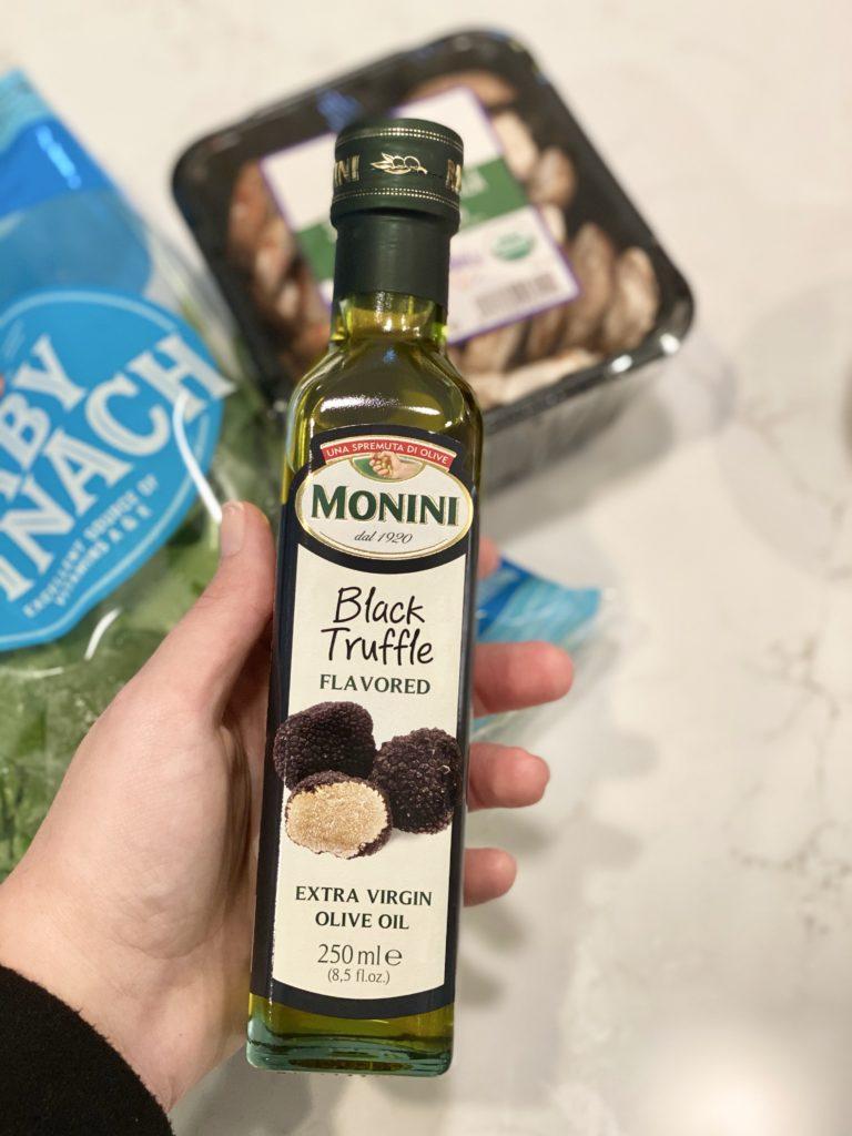 truffle oil for truffle mushroom pasta