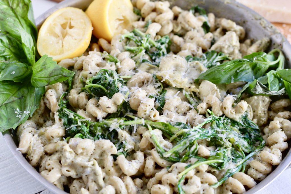 artichoke lemon pesto pasta