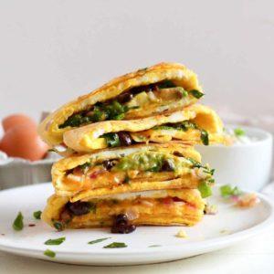 Veggie, Black Bean, & Egg Quesadilla