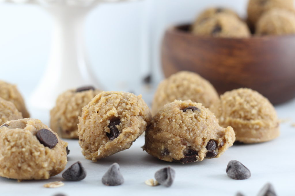 chocolate chip cookie dough bites bedtime snacks for diabetes