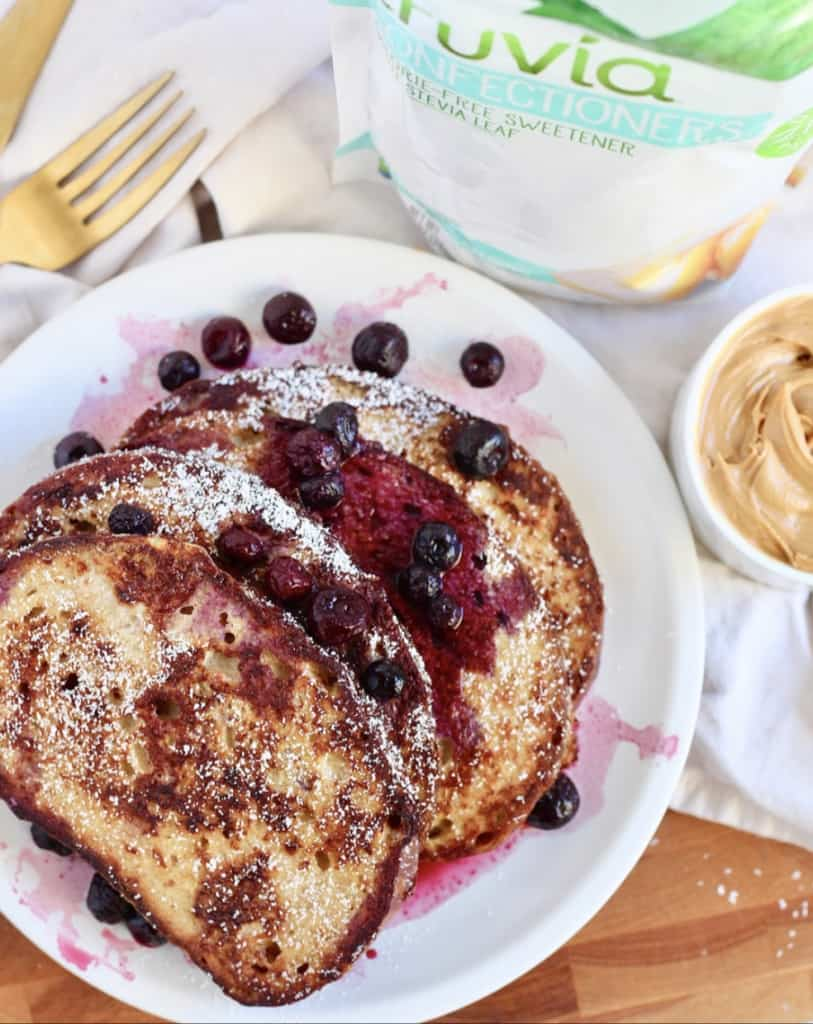 sourdough french toast with truvia sweet confectioners