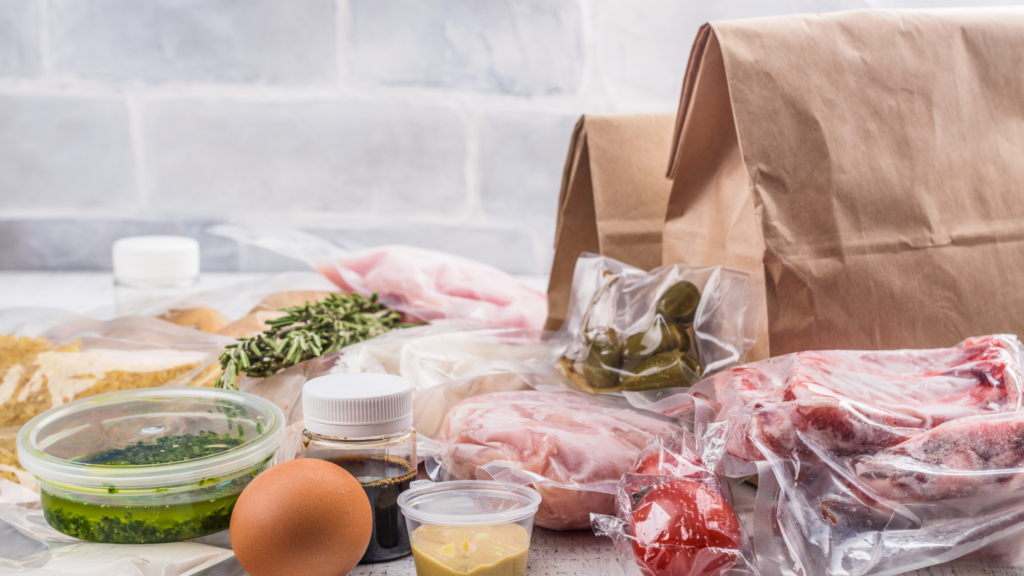 groceries from diabetic meal delivery with meat