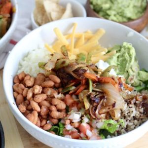 Low Carb Burrito Bowl with Guacamole