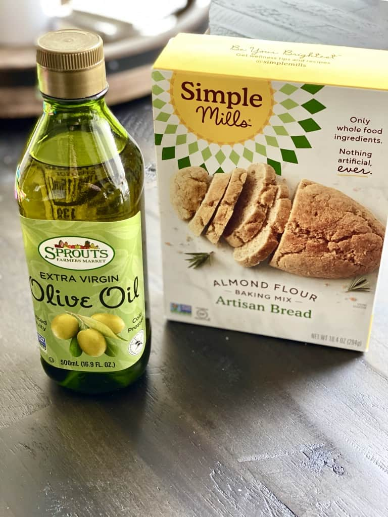 sprouts brand olive oil with simple mills artisan bread mix gluten free garlic knots