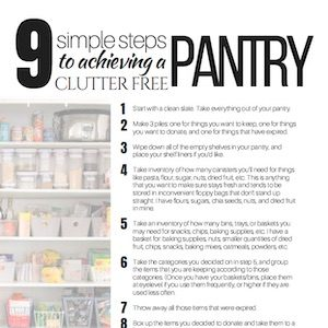 step by step guide for a clutter free pantry