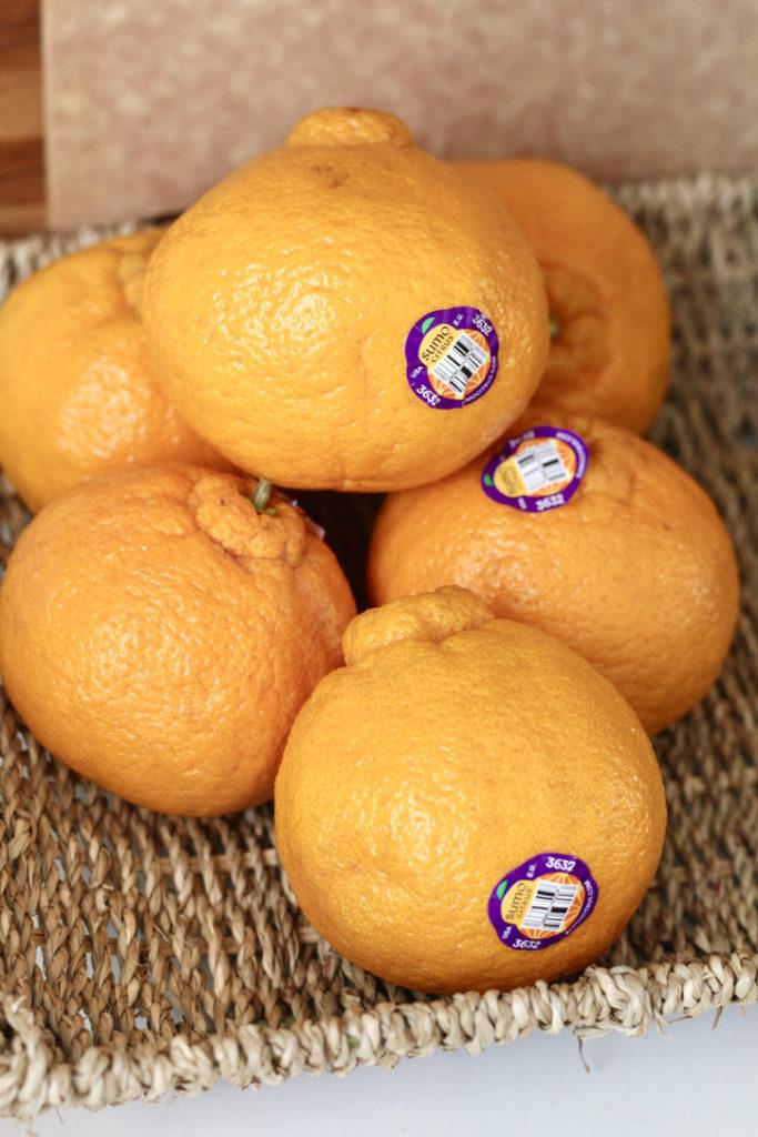 sumo mandarins for one pan salmon and evggies