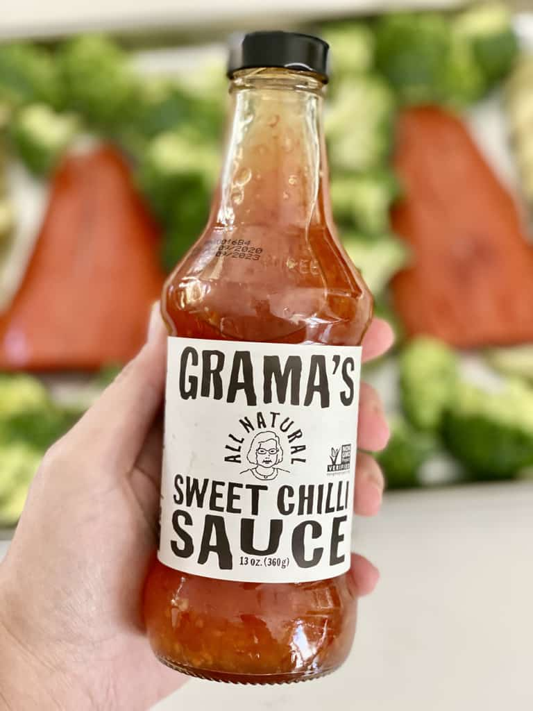 sweet chili sauce for one pan salmon and veggies
