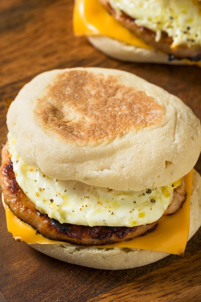 english muffin egg sandwich fast food for diabetes breakfast