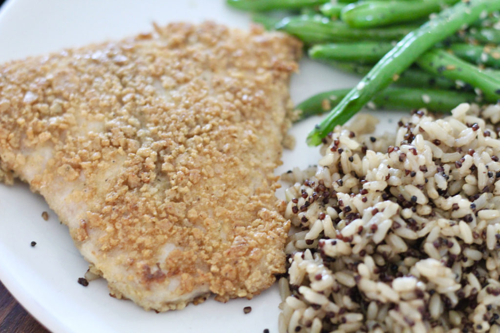 how to cook cod in skillet with rice green beans