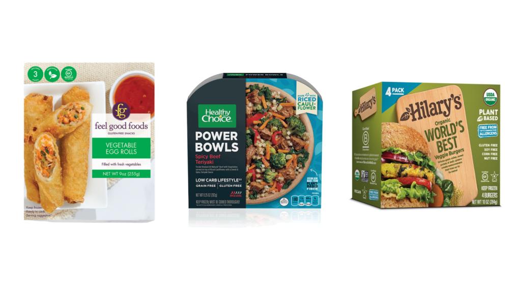 diabetes friendly frozen lunches feel good foods egg rolls healthy choice power bowls hilarys veggie burgers
