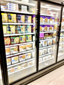 diabetes friendly frozen meals at grocery store