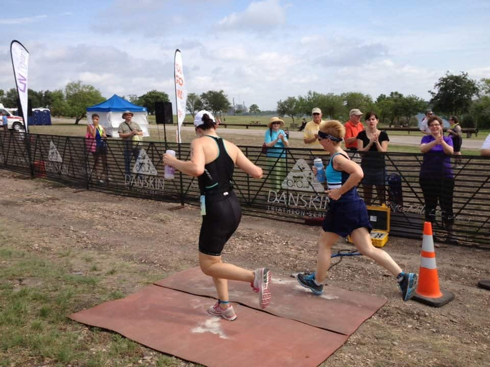 two women finishing triathalon with diabetes and exercise