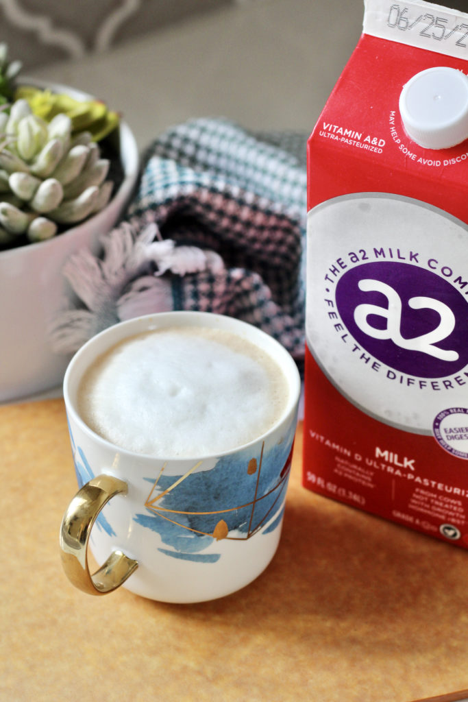 latte made with whole a2 milk for diabetes