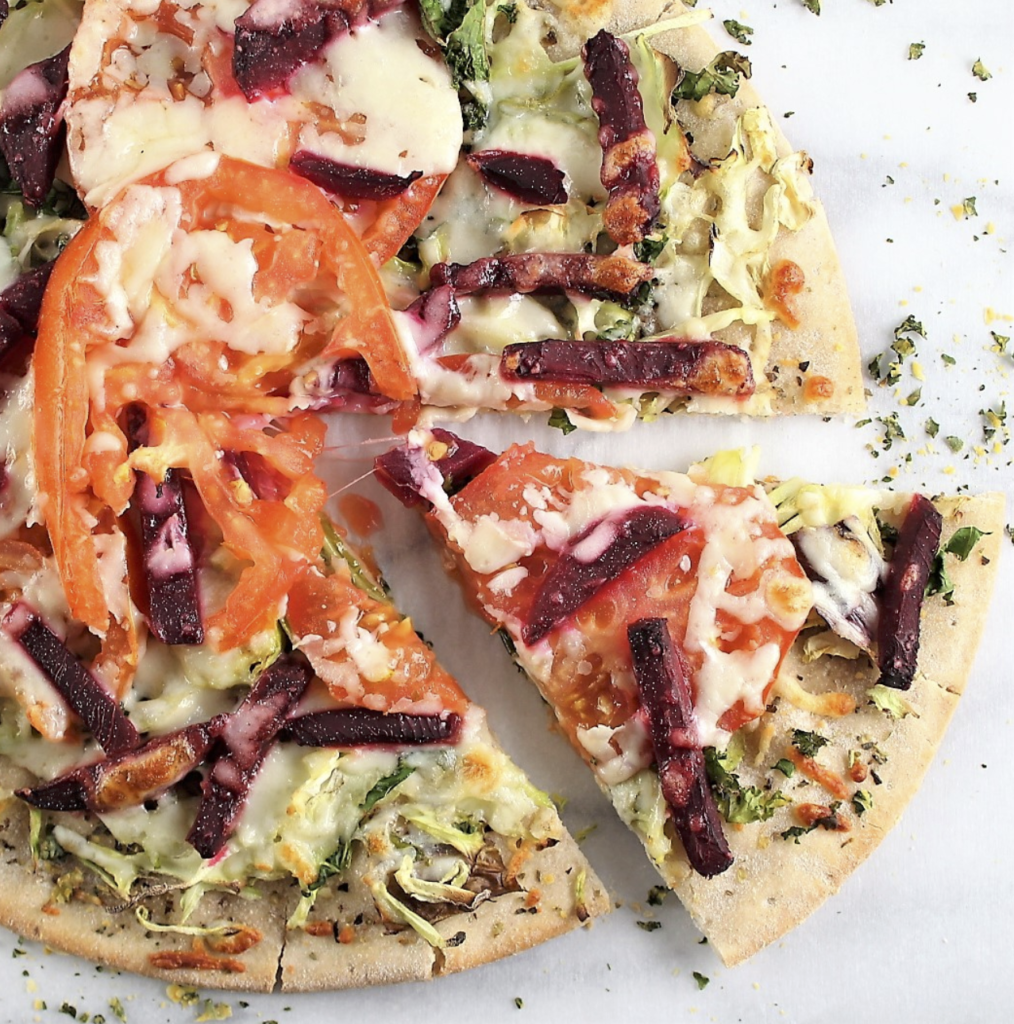 diabetes and pizza tomato kale and beet pizza