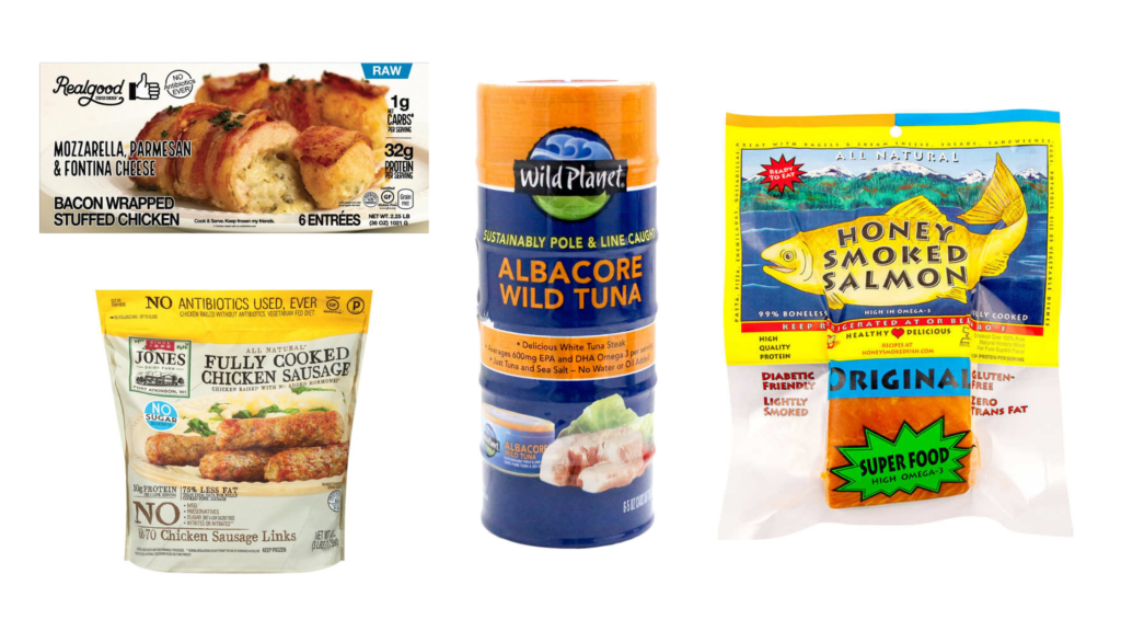 costco shopping list real good foods bacon wrapped stuffed chicken wild planet foods canned tuna honey smoked fish company salmon jones dairy farm chicken sausage
