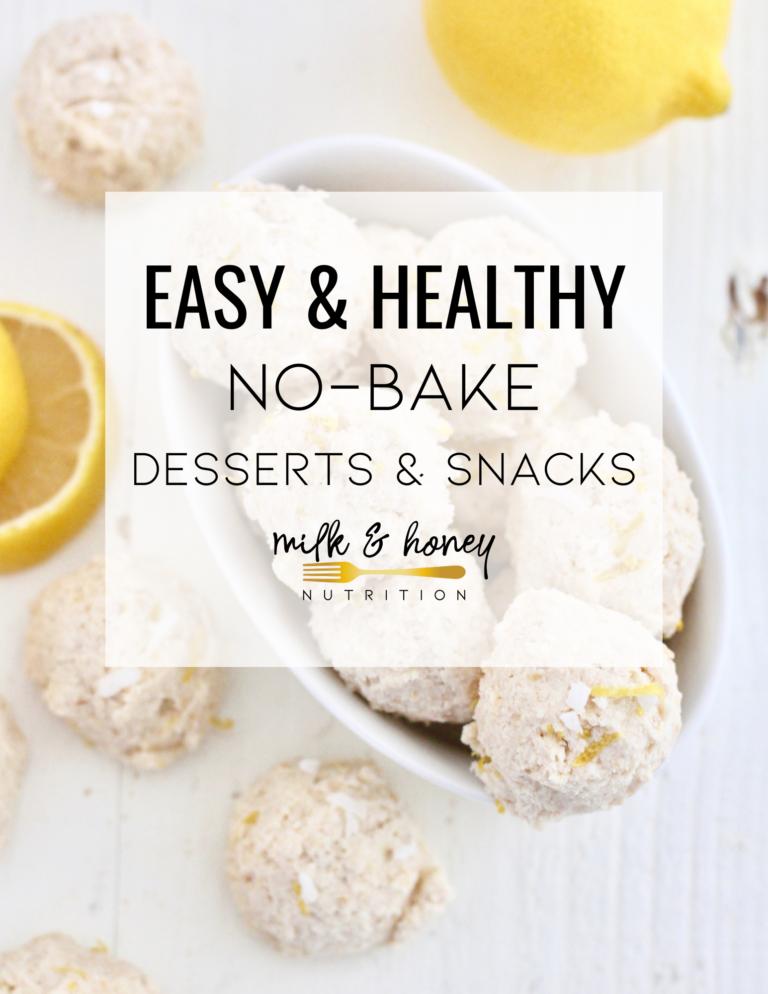 healthy no bake desserts with lemon cheesecake bites
