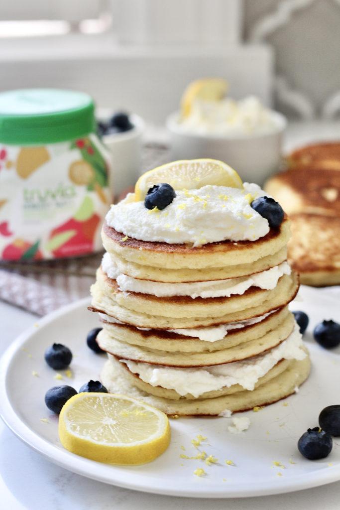 lemon ricotta pancakes with truvia