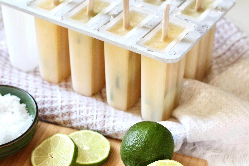margarita popsicles low sugar