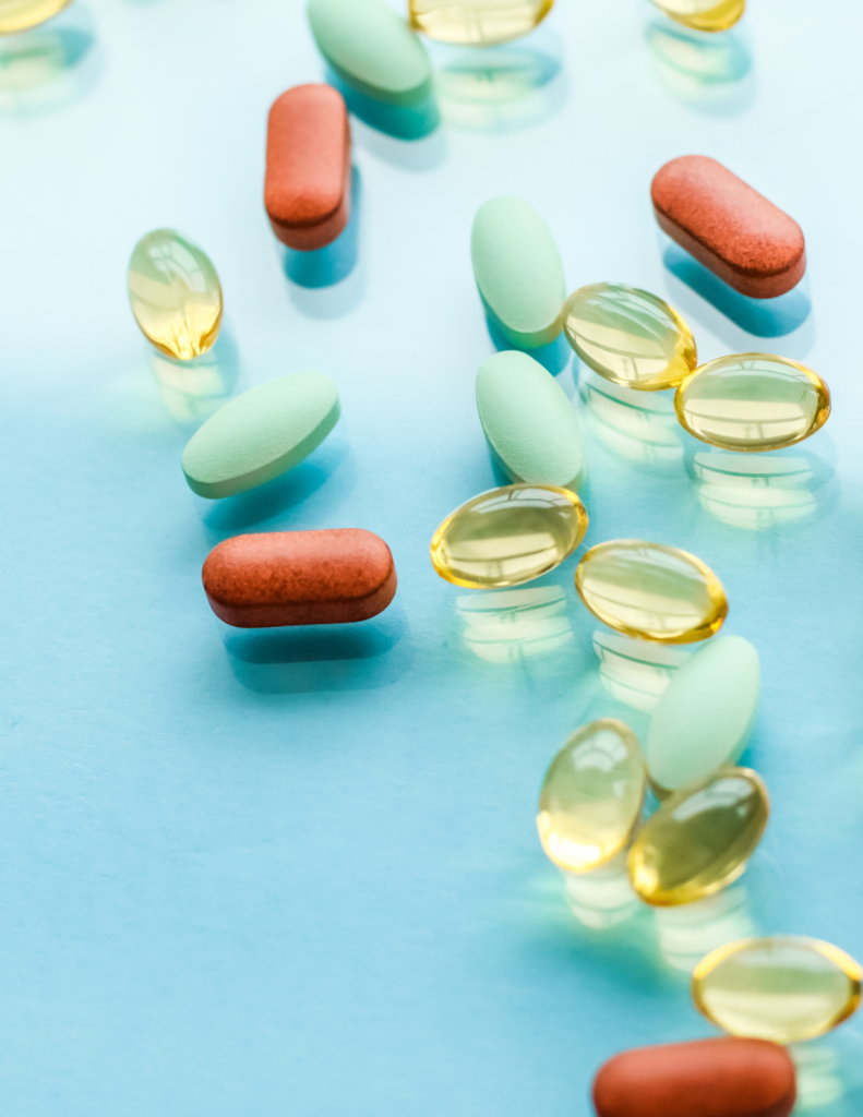 assorted supplements and best vitamins for diabetes