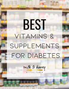 best vitamins for diabetes graphic