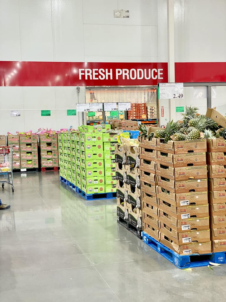 costco shopping list bulk foods produce section