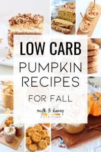 low carb pumpkin recipes for fall
