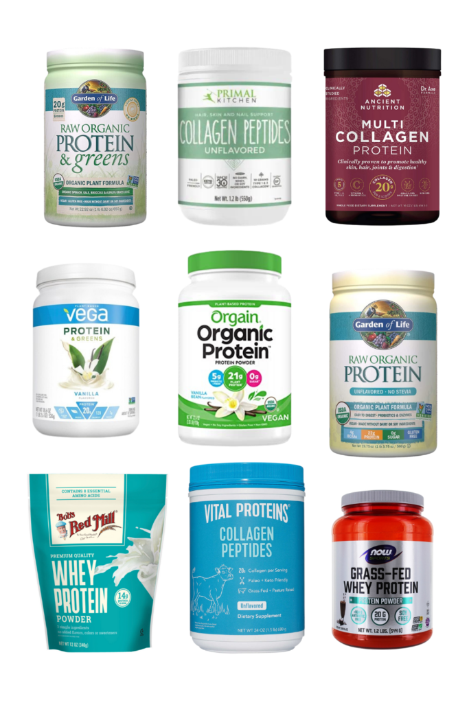Best protein powder for diabetes Bob's Red Mill Whey Protein Powder, unflavored, Garden of Life Raw Organic Protein & Greens, Garden of Life Raw Organic Protein, Vega Vanilla Protein & Greens, Vital Proteins Collagen Peptides, Ancient Nutrition Multi-Collagen Protein, Orgain Organic Protein Powder, Now Sports Grass Fed Whey Protein, Primal Kitchen Unflavored Collagen